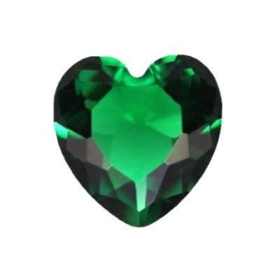 Изумруд гидротермальный сердце от 6.0 мм до 7.0 мм