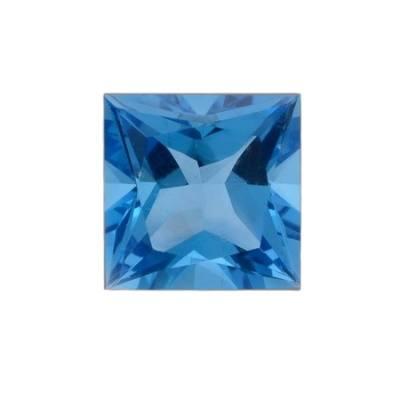 Топаз Swiss Blue огранка квадрат