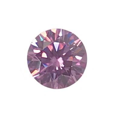 Муассанит (США) розовый огранка круг