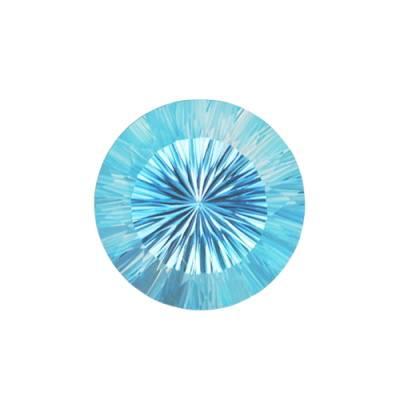 Топаз Sky Blue огранка круг конкейв