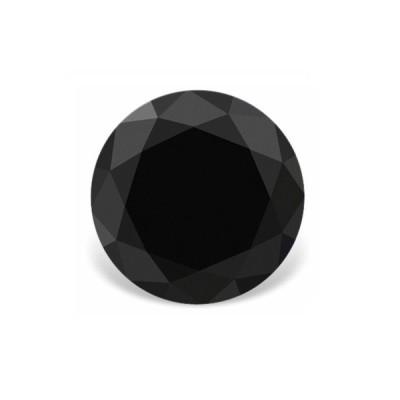 Фианит черный круг от 1,0 до 3,0 мм (Упаковка 100 шт.)