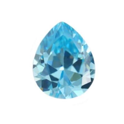 Фианит голубой груша от 4×3 мм до 7×5 мм (Упаковка 10 шт.)