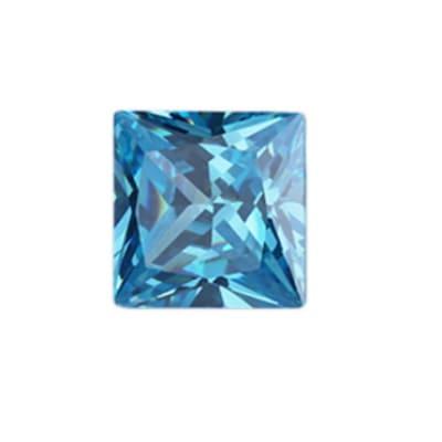 Фианит голубой квадрат от 2×2 мм до 5×5 мм (Упаковка 10 шт)