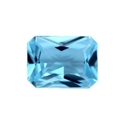 Фианит голубой октагон от 14×10 мм до 18×13 мм