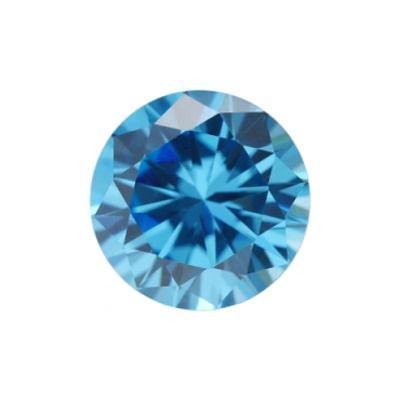 Фианит голубой круг от 3,25 мм до 4,0 мм(Упаковка 10 шт)