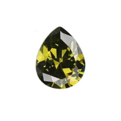 Фианит хризолитовый груша от 4×3 мм до 7×5 мм (Упаковка 10 шт.)