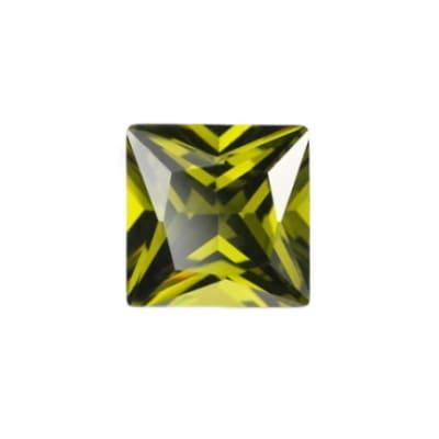 Фианит хризолитовый квадрат от 2×2 мм до 5×5 мм (Упаковка 10 шт)