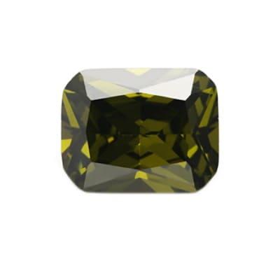 Фианит хризолитовый октагон от 8×6 мм до 18×13 мм