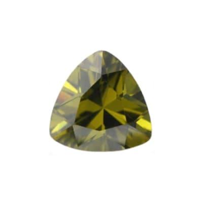 Фианит хризолитовый триллион от 4×4 мм до 12×12 мм