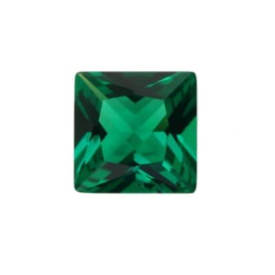 Фианит изумрудный квадрат от 2×2 мм до 5×5 мм (Упаковка 10 шт)