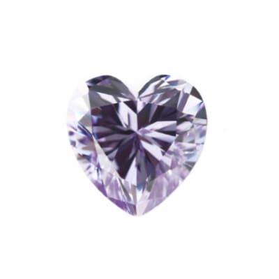 Фианит лаванда сердце от 4×4 мм до 6×6 мм