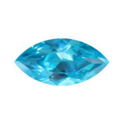 Фианит голубой маркиз от 4×2 мм до 8×4 мм (Упаковка 10 шт.)