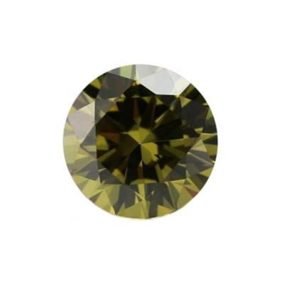 Фианит хризолитовый круг от 1,0 мм до 3,0 мм(Упаковка 100 шт)