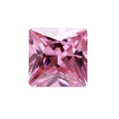 Фианит розовый квадрат от 2×2 мм до 5×5 мм (Упаковка 10 шт)