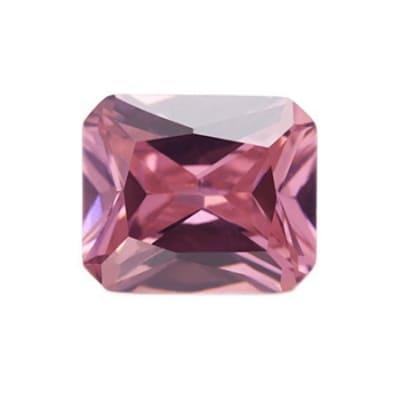 Фианит розовый октагон от 8×6 мм до 18×13 мм