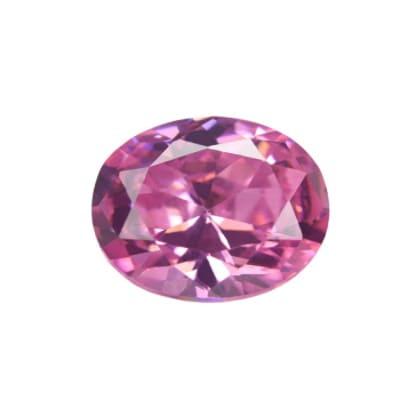 Фианит розовый овал от 4×3 мм до 7×5 мм (Упаковка 10 шт.)