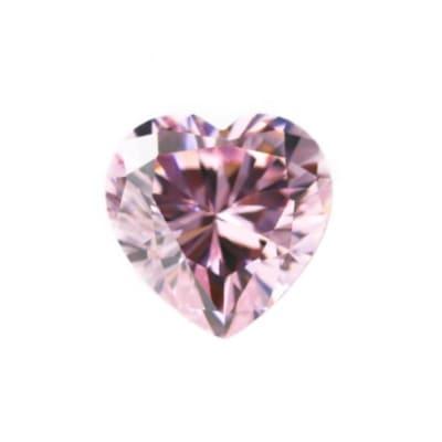 Фианит розовый сердце от 4×4 мм до 6×6 мм