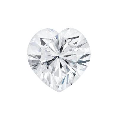 Фианит сердце бесцветный от 3×3 до 8×8 мм