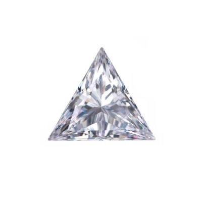 Фианит треугольник бесцветный от 3×3 до 7×7 мм