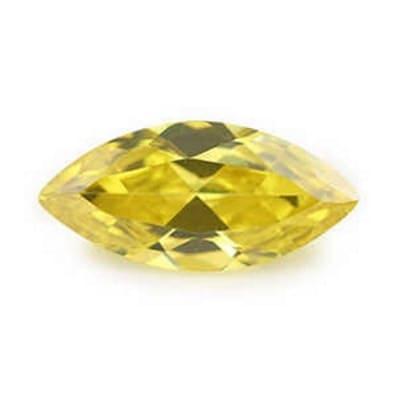 Фианит желтый маркиз от 4×2 мм до 6×3 мм (Упаковка 10 шт.)
