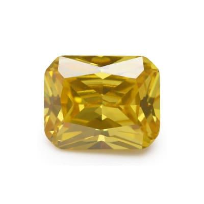 Фианит желтый октагон 18×13 мм