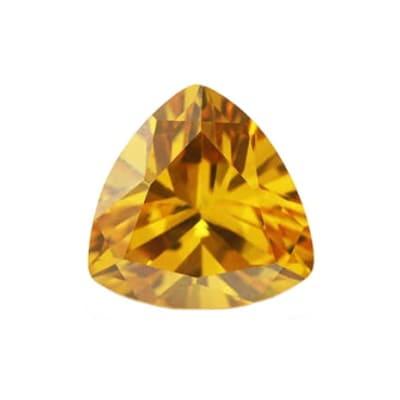 Фианит желтый триллион от 4×4 мм до 8×8 мм