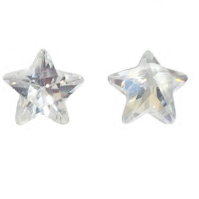 Фианит звезда бесцветный от 5×5 до 6×6 мм