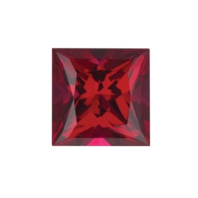 Рубин искусственно выращенный квадрат от 2×2 мм до 10×10 мм